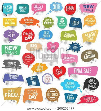 Abstract modern vector sticker collection vector illustration