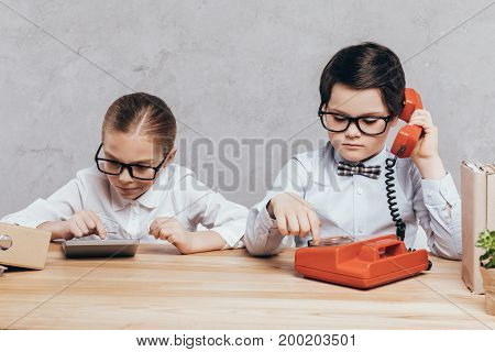 Kids Working At Workplace