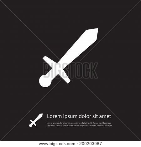 Sword Vector Element Can Be Used For Rapier, Sword, Poniard Design Concept.  Isolated Poniard Icon.
