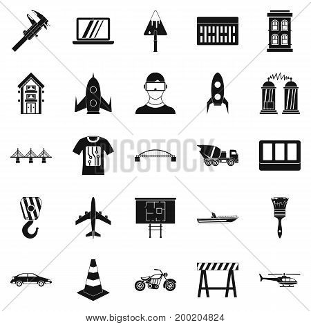 Draft icons set. Simple set of 25 draft vector icons for web isolated on white background