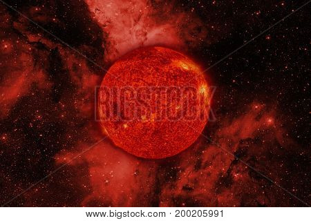 Solar System. Sun. Elements Of This Image Furnished By Nasa