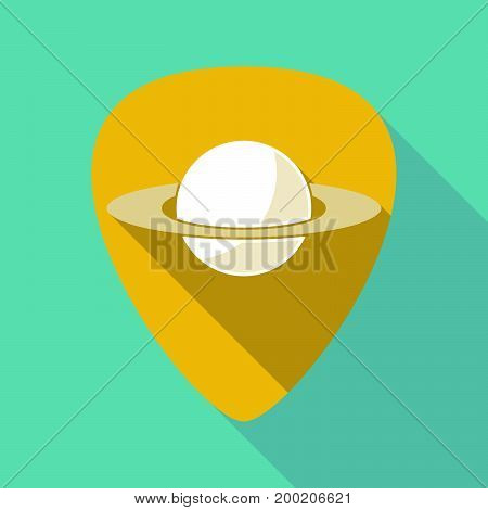 Long Shadow Plectrum With The Planet Saturn