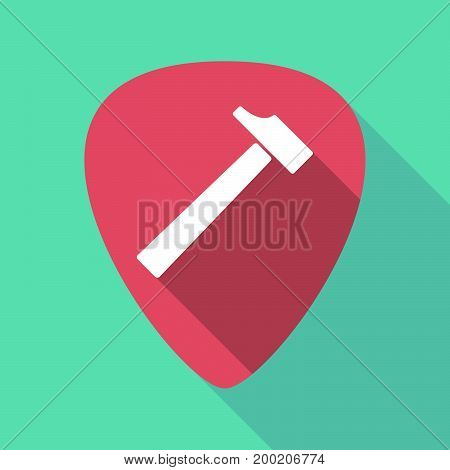 Long Shadow Plectrum With A Hammer