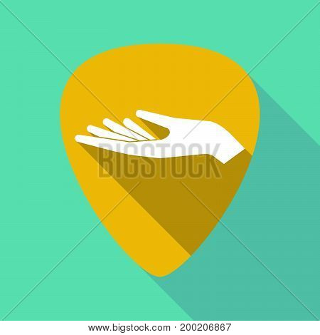 Long Shadow Plectrum With A Hand Offering