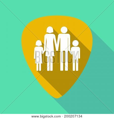 Long Shadow Plectrum With A Conventional Family Pictogram