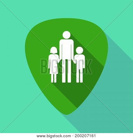 Long Shadow Plectrum With A Male Single Parent Family Pictogram