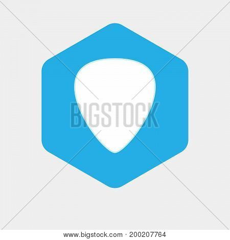 Isolated Hexagon With A Plectrum