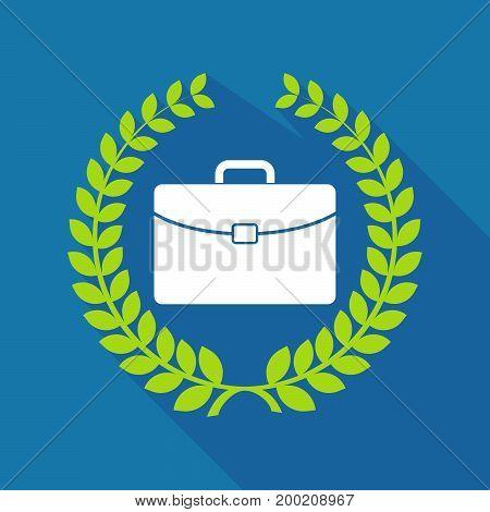 Long Shadow Laurel Wreath With  A Briefcase