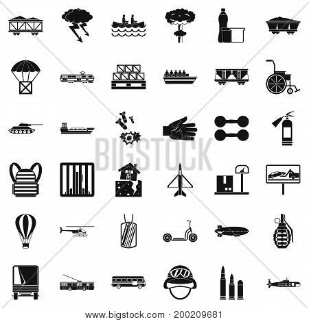 Goods icons set. Simple style of 36 goods vector icons for web isolated on white background