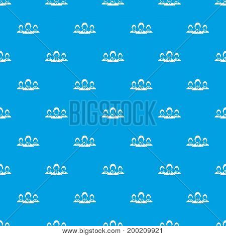 Customer support operators pattern repeat seamless in blue color for any design. Vector geometric illustration