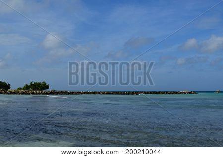 Beautiful jetty outcropping on the Aruba coast.