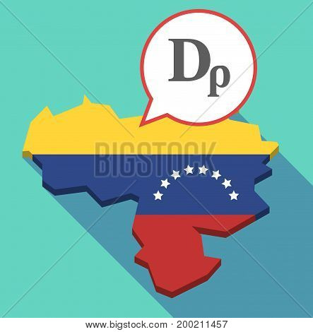 Long Shadow Venezuela Map With A Drachma Currency Sign