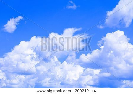 blue sky with cloud vivid art of nature beautiful and copy space for add text