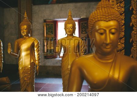 Statues in Phuket's Wat Chalong temple. Thailand.