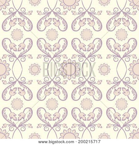 Background vintage flower. Seamless floral pattern. Abstract wallpaper. Texture royal. Fabric illustration.