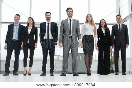 group of successful young business people