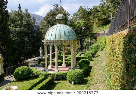Scherrer Park At Morcote On Switzerland.