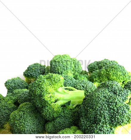 Fresh cabbage broccoli  isolated on white back