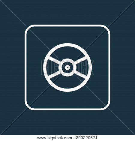 Premium Quality Isolated Turntable Element In Trendy Style.  Vinyl Outline Symbol.