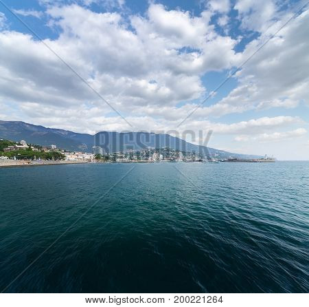 Yalta embankment Crimea bright daytime landscape journey the Crimea