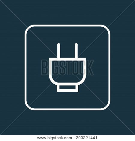 Premium Quality Isolated Plug Element In Trendy Style.  Socket Outline Symbol.