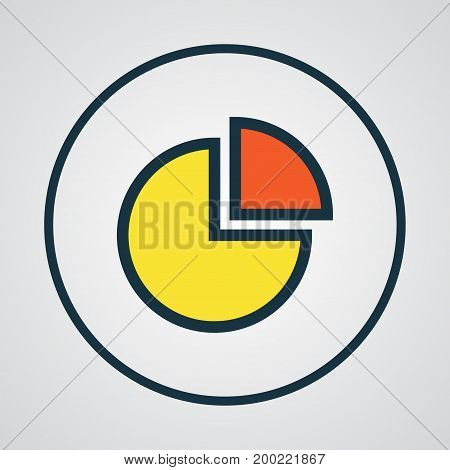 Premium Quality Isolated Circle Stats Element In Trendy Style.  Pie Chart Colorful Outline Symbol.