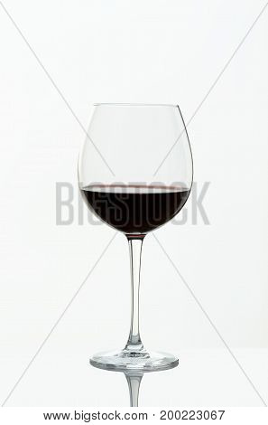 Wineglass red wine from Rioja in Spain