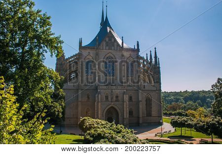 Church of Saint Barbara. UNESCO World Heritage Site in the historic center of Kutna Hora