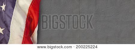 Digital composite of USA flag against grey background