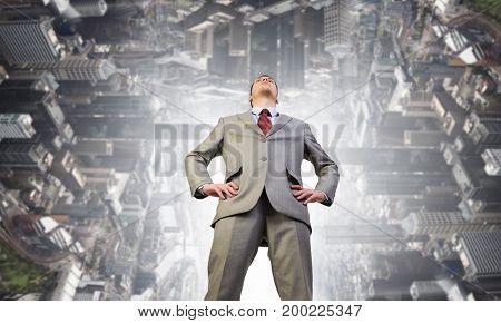 He is big boss. Mixed media . Mixed media