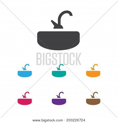 Vector Illustration Of Cleaning Symbol On Sink Icon