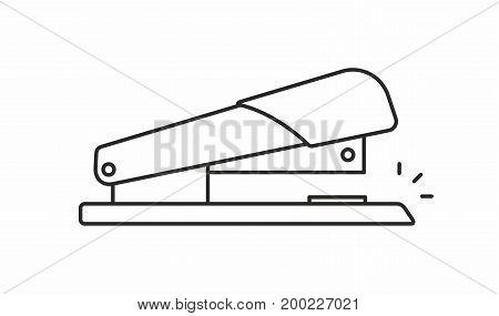 Stapler line icon on white background. Vector illustration.