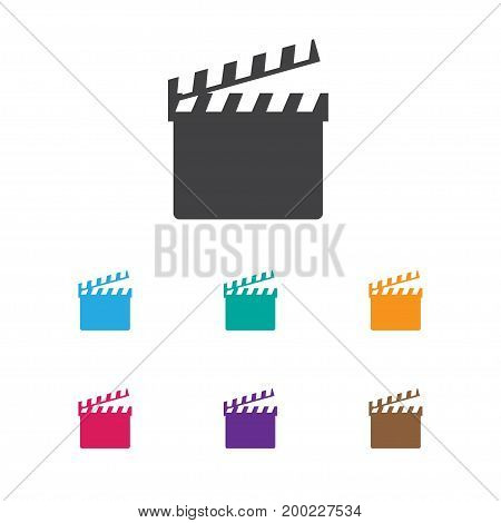 Vector Illustration Of Movie Symbol On Clapper Icon