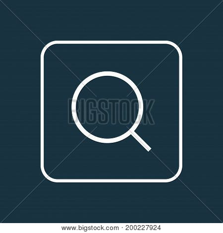 Premium Quality Isolated Search Element In Trendy Style.  Magnifier Outline Symbol.