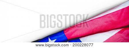Digital composite of USA flag against white background