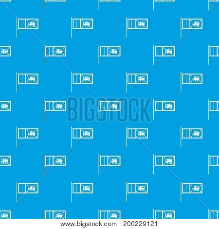 Flag of Sri Lanka pattern repeat seamless in blue color for any design. Vector geometric illustration