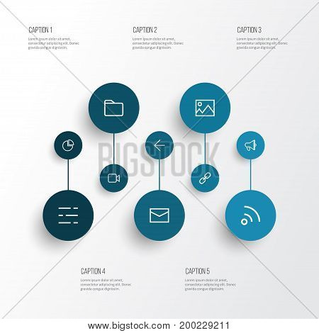 Interface Outline Icons Set. Collection Of Diagram, Folder, Dashboard And Other Elements