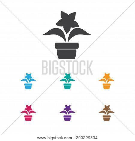 Vector Illustration Of Gardening Symbol On Flowerpot Icon