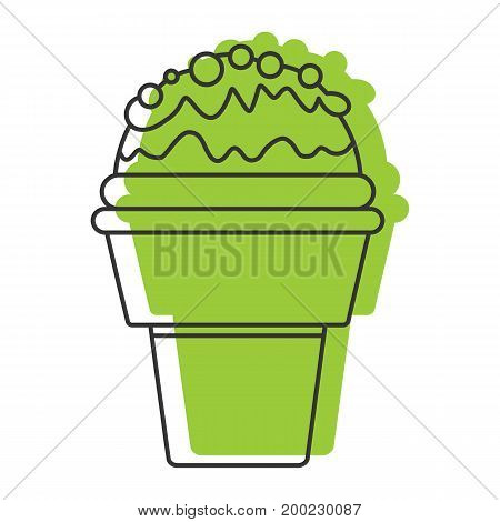 Pistachio ice cream doodle icon vector illustration for design and web isolated on white background. Ice cream vector object for labels  and advertising