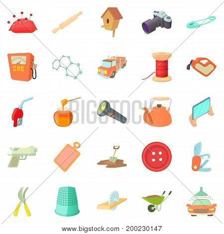 Craft icons set. Cartoon set of 25 craft vector icons for web isolated on white background