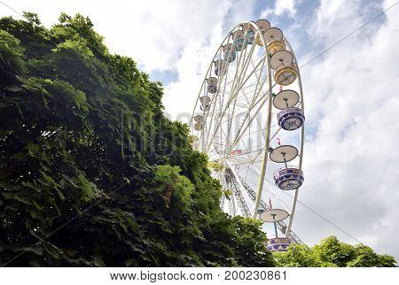 Thun Switzerland - 23 July 2017 Ferris wheel in old town