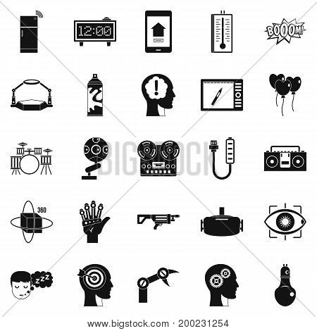 Musical talent icons set. Simple set of 25 musical talent vector icons for web isolated on white background