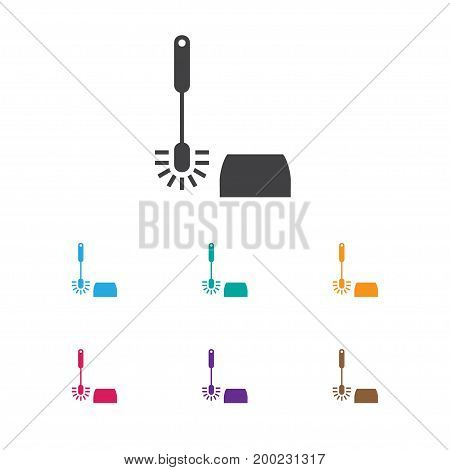 Vector Illustration Of Cleaning Symbol On Toilet Brush Icon