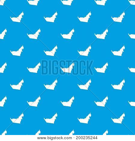 United Arab Emirates map pattern repeat seamless in blue color for any design. Vector geometric illustration