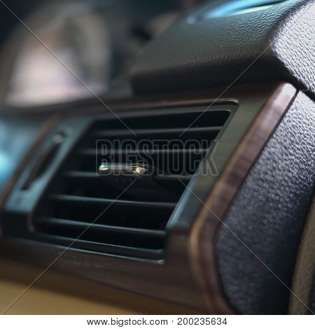 Cool Air Condition In Car, Part Of Luxury Vehicle Interior