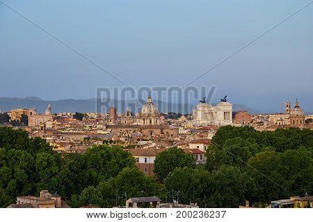 Rome, Panorama Of City