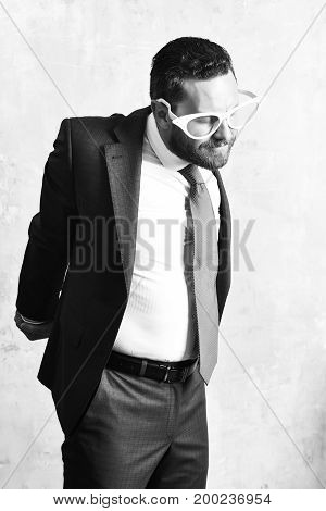 Fatigued Businessman Stretching Oneself