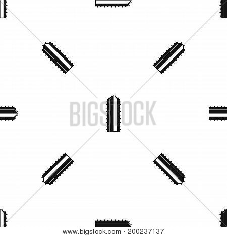 Cactus plant pattern repeat seamless in black color for any design. Vector geometric illustration