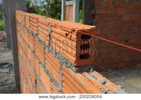 Brick Block In Construction Building Industry