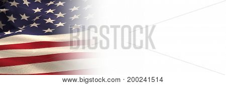 Digital composite of 3D USA with white transition